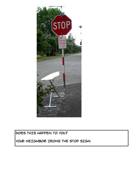 DTHTU - ironed stop sign toon