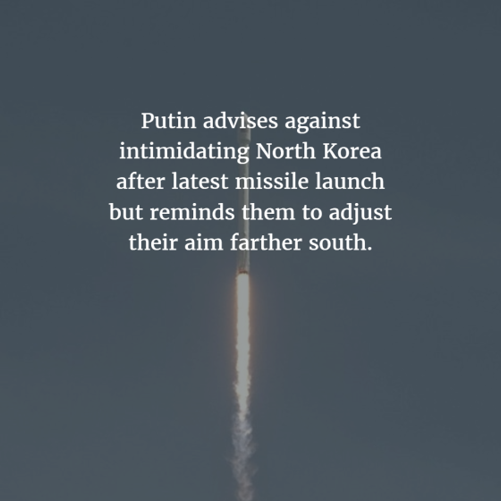 Putin Advises Aim